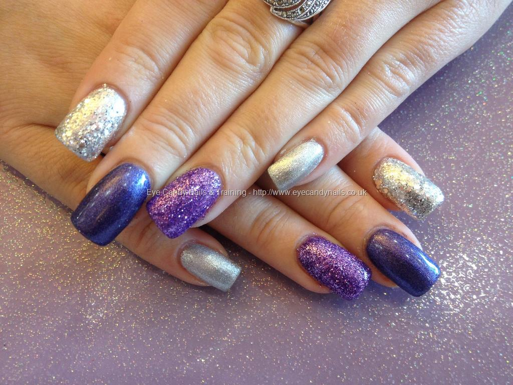 65 Purple And Silver Nail Art Design Ideas