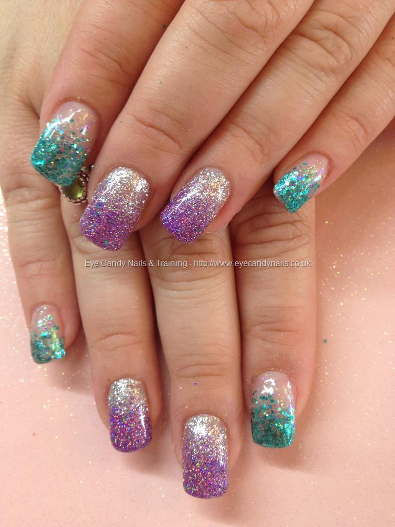 65 purple and silver nail art design ideas purple and silver glitter gradient nail art prinsesfo Gallery
