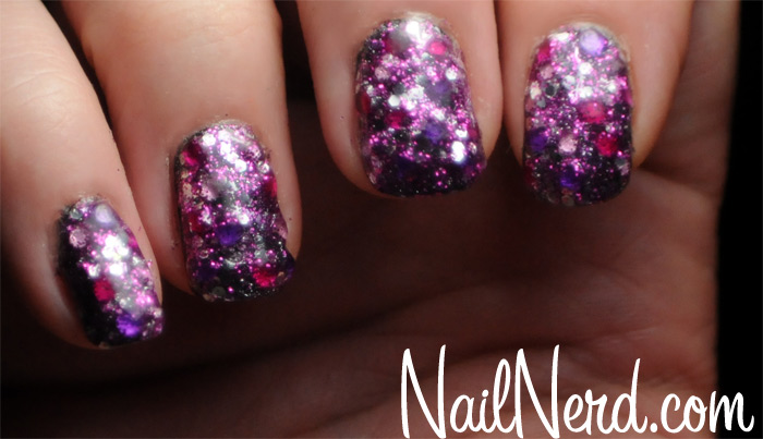 60 cool purple glitter nail art design ideas for trendy girls purple glitter nail design idea prinsesfo Image collections