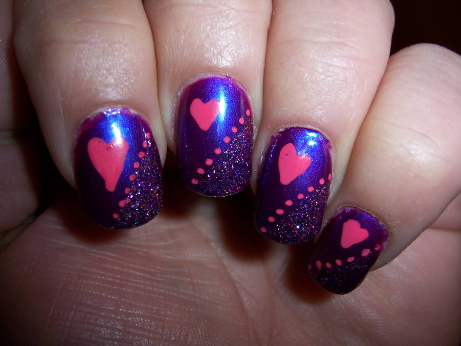 Pink blue and purple ombré w/ sparkles. Nail art   Nails ...  Purple And Pink Nails