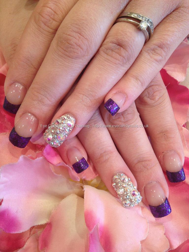 Enchanting Purple Nail Tips Crest - Nail Art Design Ideas ...