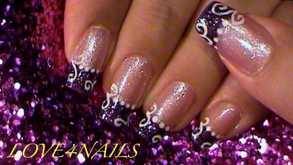 60 Cool Purple Glitter Nail Art Design Ideas For Trendy Girls