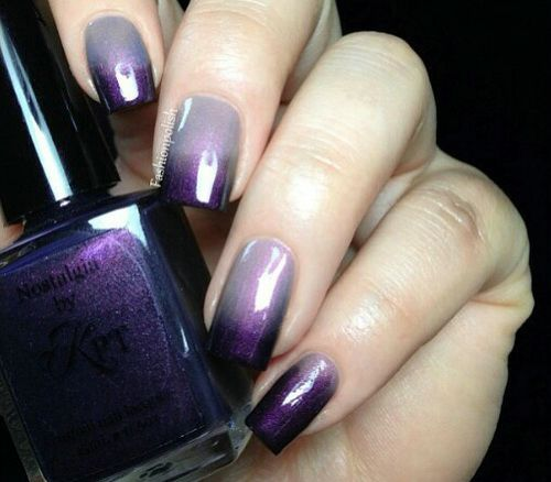 Purple gel nail designs gallery nail art and nail design ideas 65 latest purple nail art designs for trendy girls purple gradient nail art idea prinsesfo gallery prinsesfo Gallery