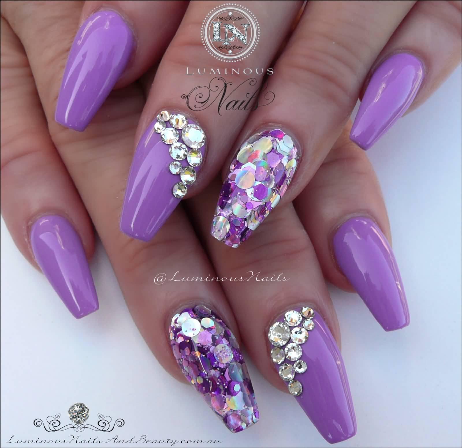 Nail Art Crystals Designs: Crystal nail art designs ideas design trends.