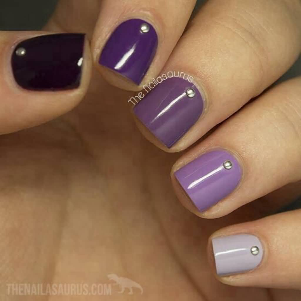 Nail Art Ideas purple and gold nail art : Purple Gold Nail Art - Best Nails Art Ideas