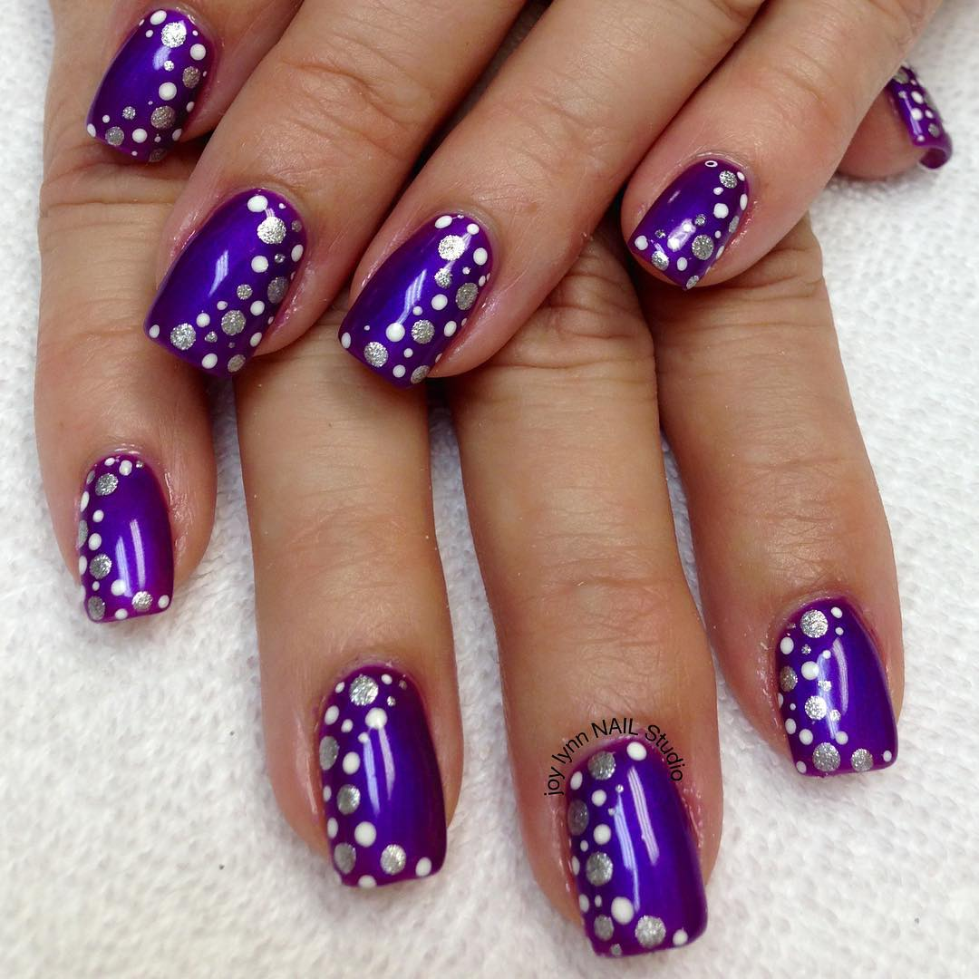 Great Nail Art Designs Videos For Beginners Small Cheap Shellac Nail Polish Uk Flat Cute Toe Nail Art Designs Fimo Nail Art Tutorial Young Nail Art Degines PurpleNail Art New Images 65 Cool Purple Nail Art Design Ideas