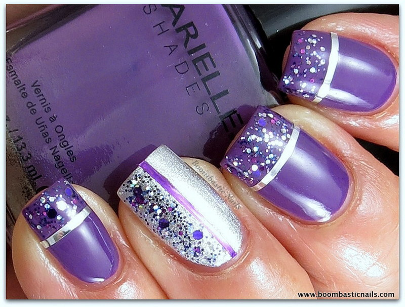 Nail Designs Purple And Silver Silver And Purple Nail Designs Easyday