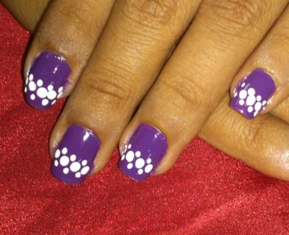 purple and white nail polish designs - Purple And White Nail Polish Designs Splendid Wedding Company