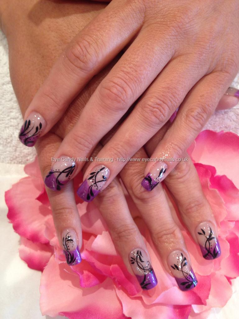 50 cool purple french tip nail art design idea purple tip nail art prinsesfo Gallery