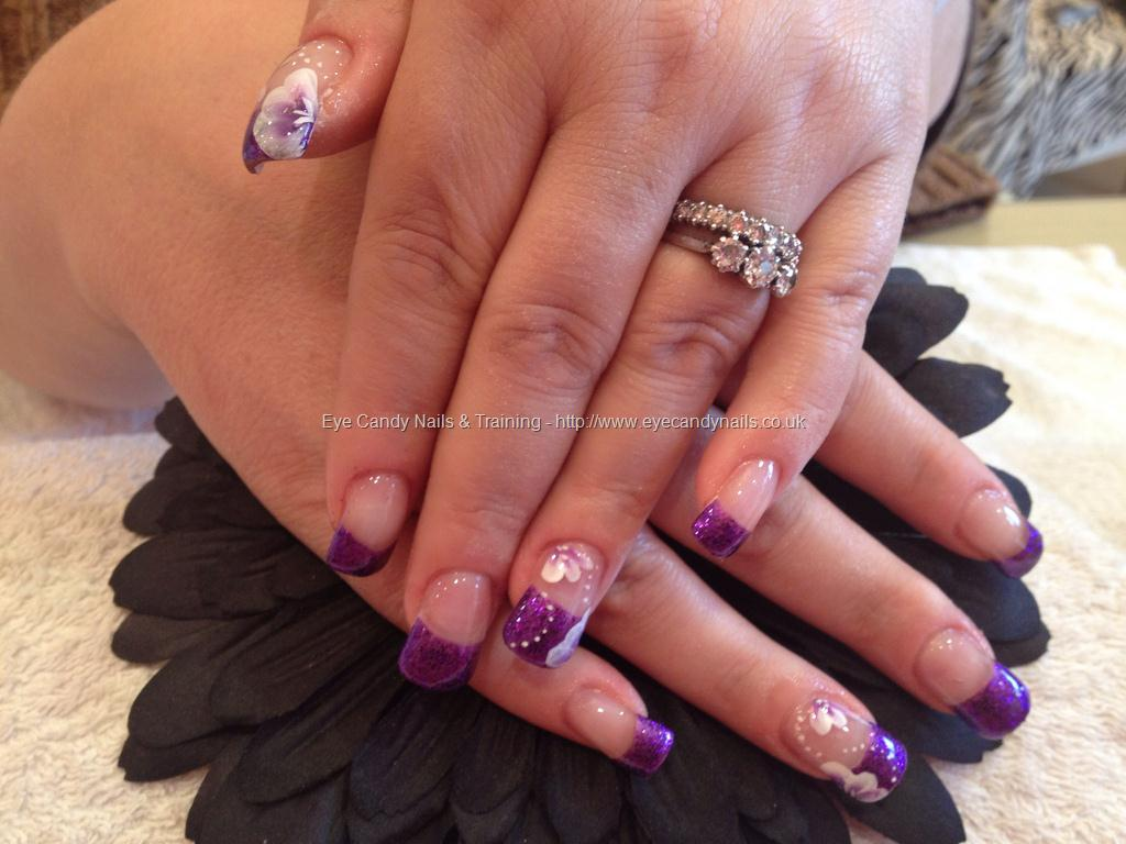 Nail Design Purple Tips: White french tip nail designs purple images ...