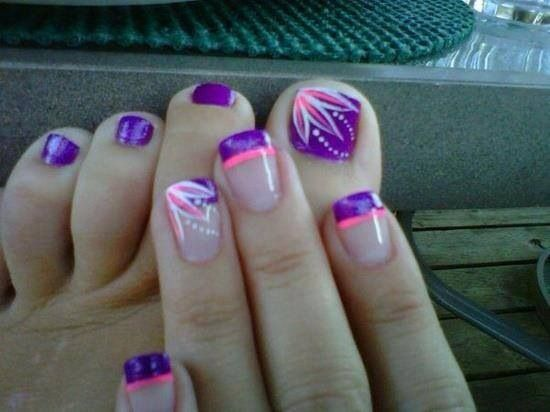 35 Stylish Purple Nail Art Designs For Toe Nails - Toe Nail Line Designs Best Nail Designs 2018