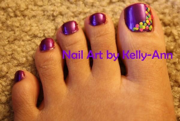 35 Stylish Purple Nail Art Designs For Toe Nails