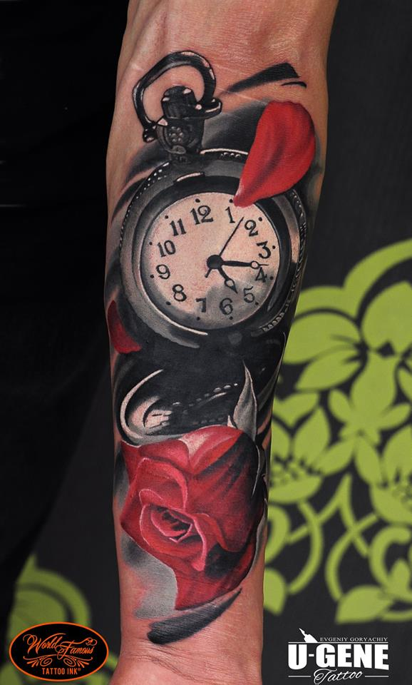Pocket watch tattoos for Pocket watches tattoos