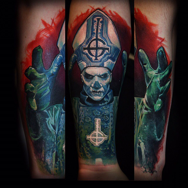 8d3f17d7426eb Satan Pop Tattoo By Kamil Mocet