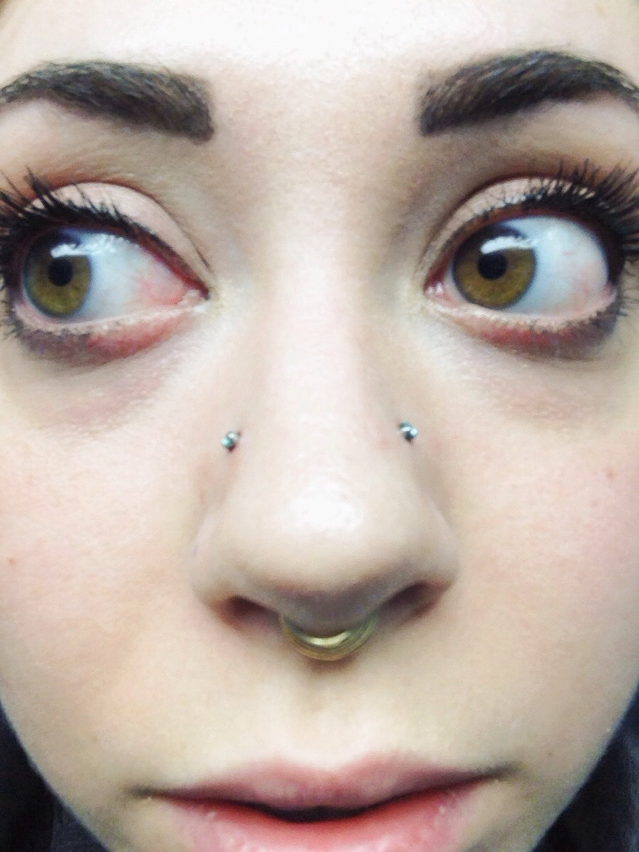Septum And High Nostril Piercing Ideas For Girls