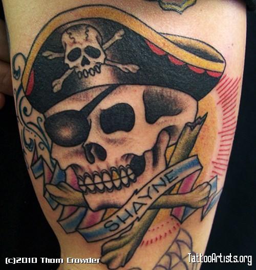 Pirate Skull Tattoos
