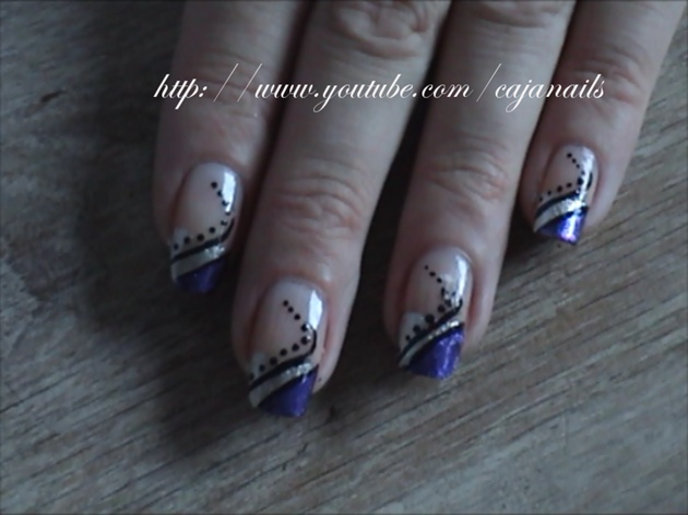55 Best Purple Nail Art Designs French Tip Stiletto Nails With Design