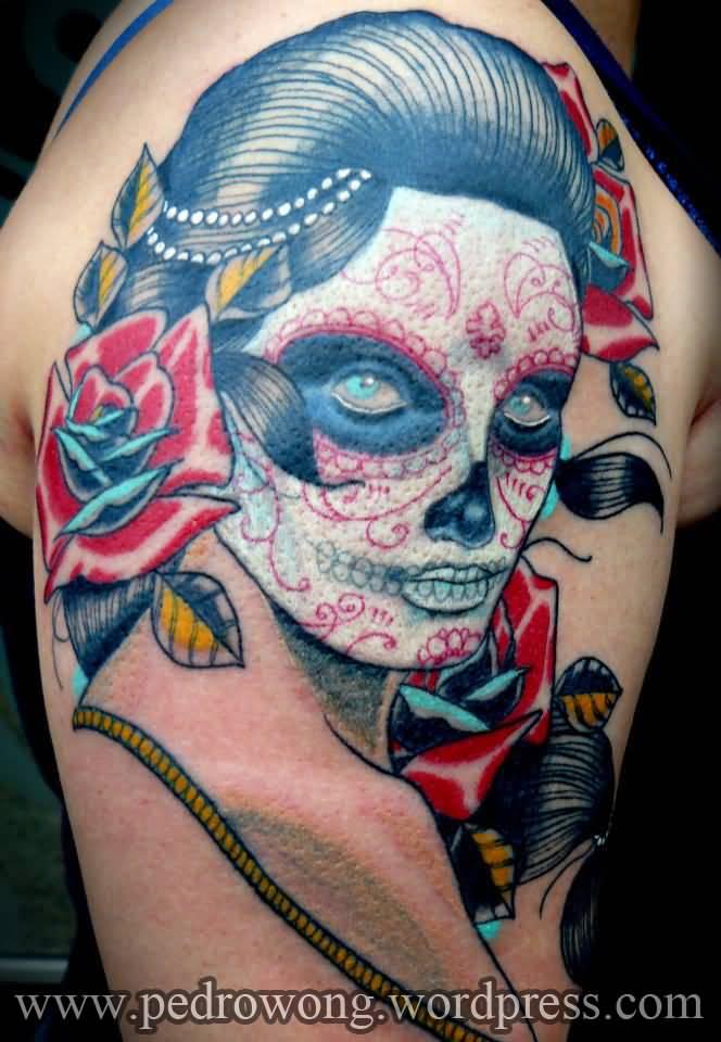 20 Traditional Catrina Tattoos