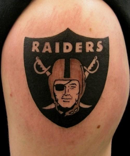 15 oakland raiders tattoos on shoulder for Raider nation tattoos