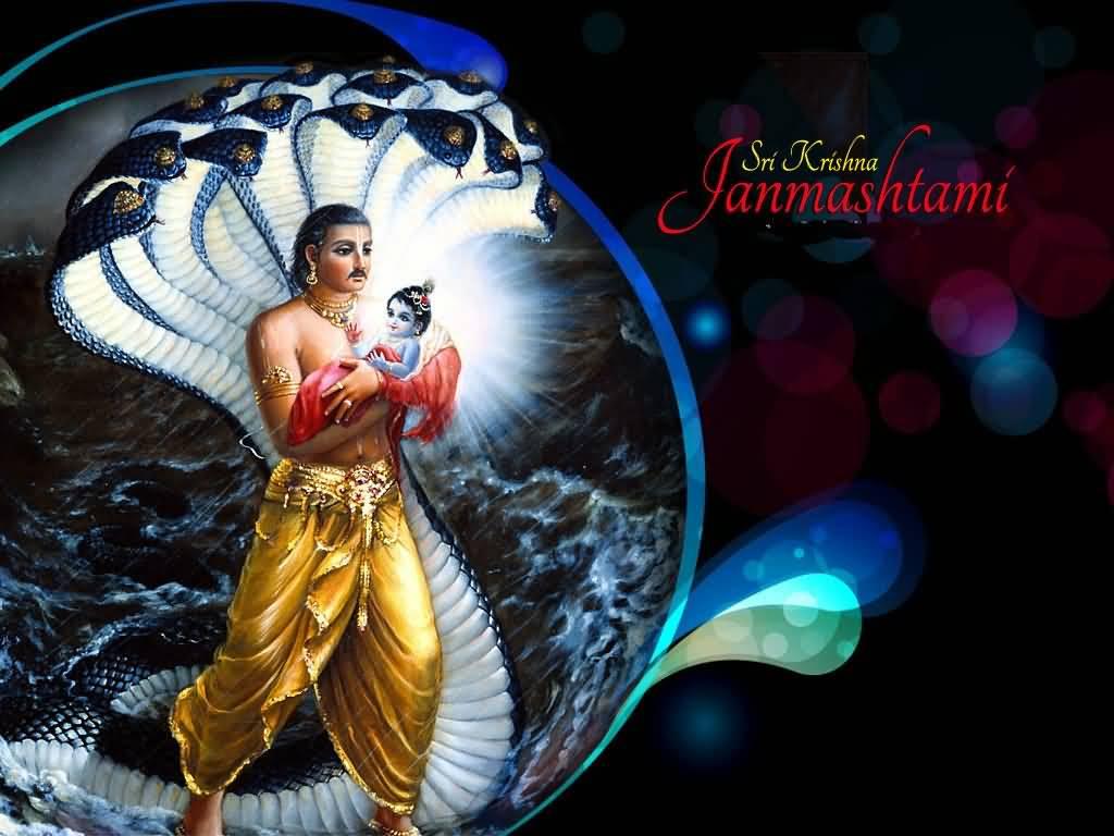 Sri krishna jayanti wallpaper - Sri Krishna Janmashtami Wishes Hd Wallpaper