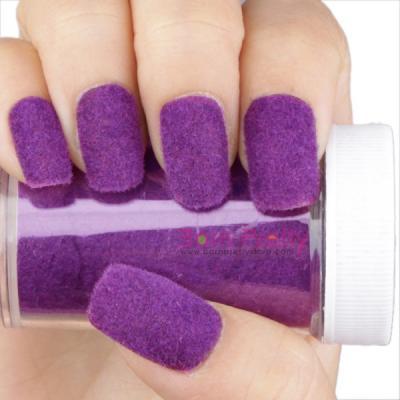 55 most stylish purple nail art designs stylish velvet purple nail art prinsesfo Gallery