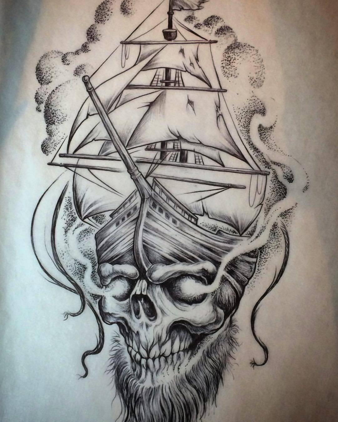 9 Pirate Ship Tattoos Designs