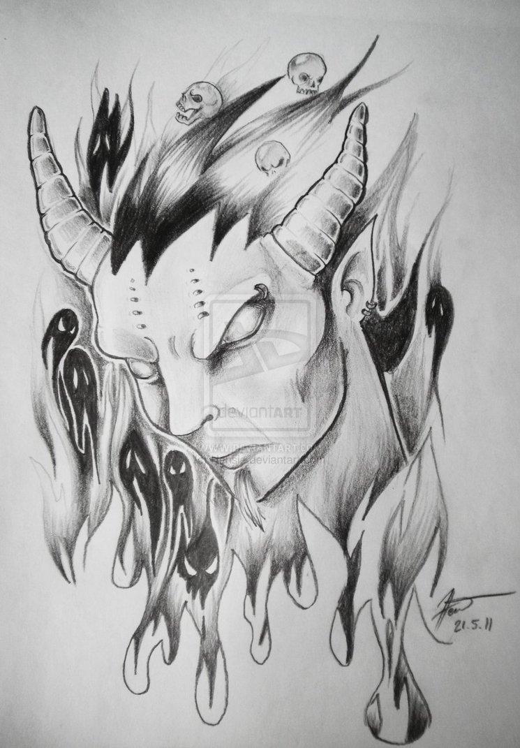 30 amazing evil tattoo designs for Satanic tattoo designs