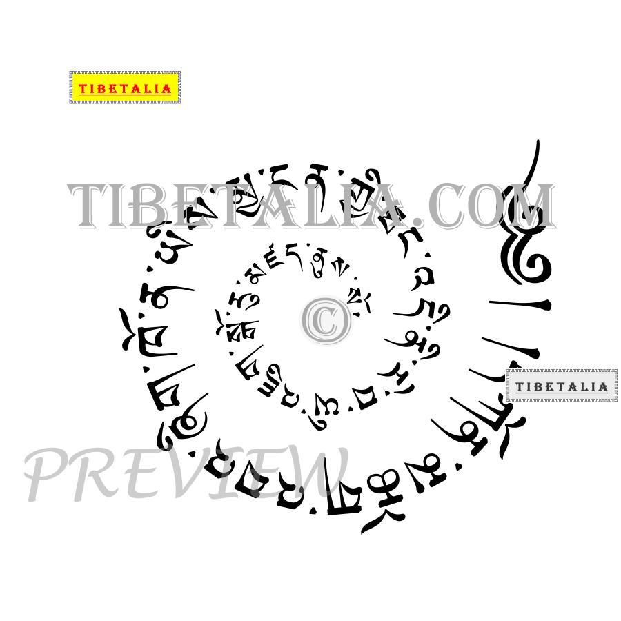 27 tibetan tattoos designs tibetan script spiral style tattoo design buycottarizona