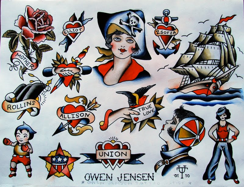23 traditional pirate girl tattoos traditional pirate girl with other tattoo samples set by riley jensen maxwellsz