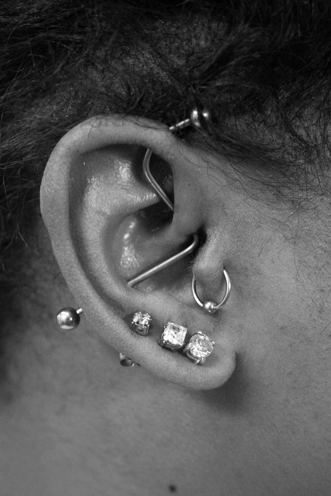 Triple Lobe And Custom Industrial Piercing