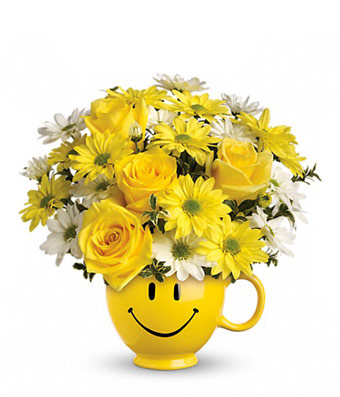 White and yellow flowers in smiley mug picture mightylinksfo