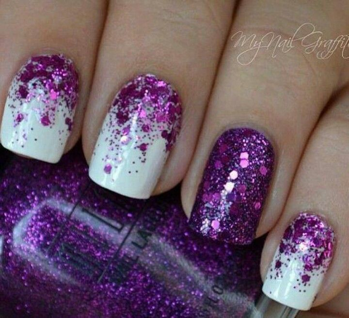 Lavender And Silver Nail Designs