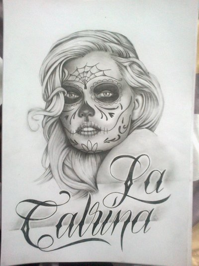 27 Catrina Sketch Tattoos Ideas