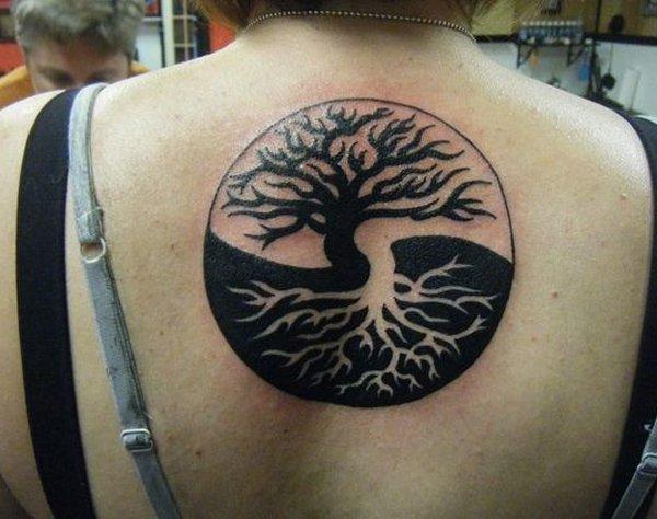 25 Tree Of Life Tattoos On Upper Back