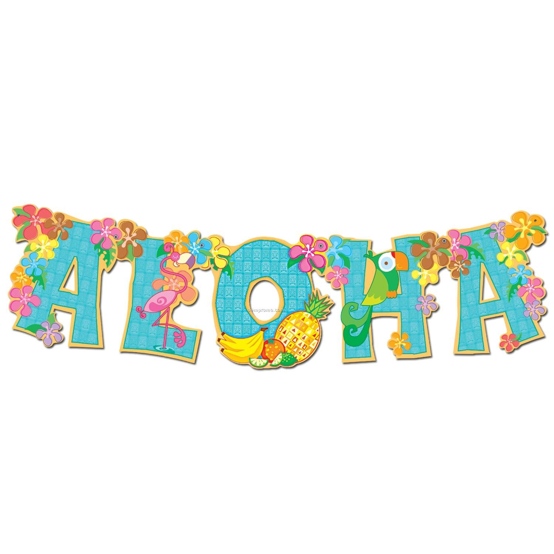 Aloha Beautiful Flowers And Fruits Text