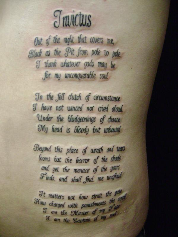 13 Poem Tattoos On Side Rib