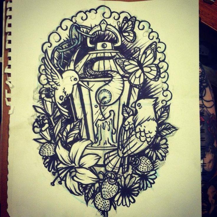 35+ Antique Lantern Tattoos
