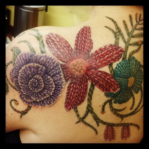Knitting Related Tattoos : Knitting tattoo designs
