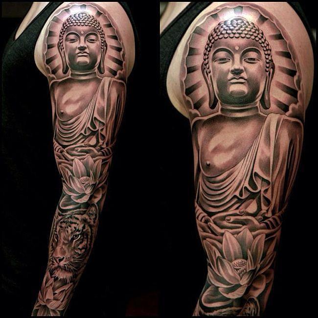 55 New Style Buddha Tattoo On Full Sleeve: 55+ Thai Tattoos Collection