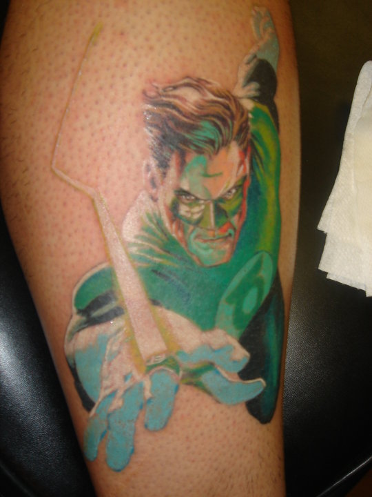 14 green lantern tattoos