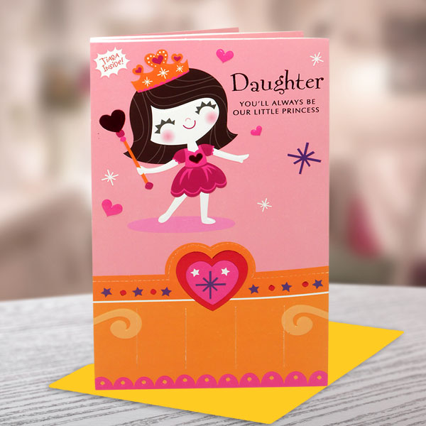 daughter youll always be our little princess happy daughters day greeting card