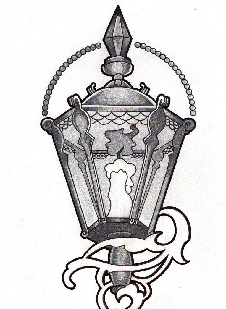 Victorian Lantern Tattoo Designs