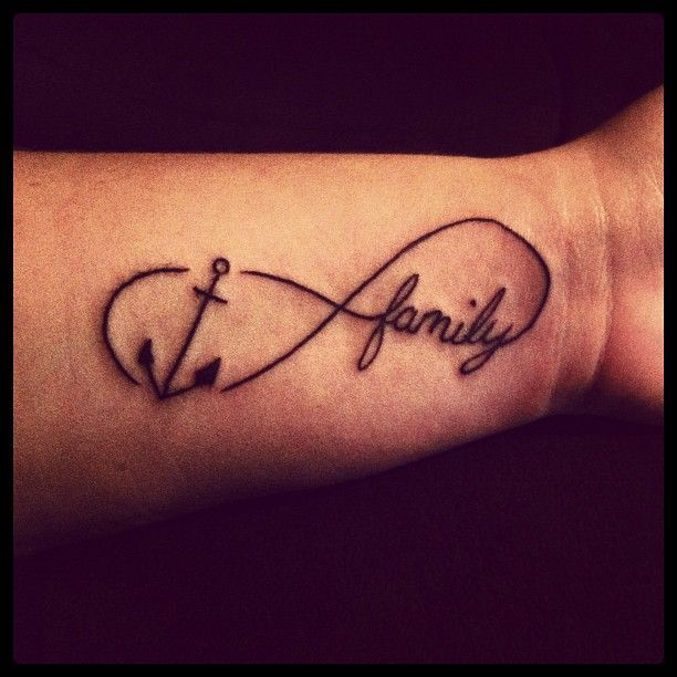 35 Family Infinity Symbol Tattoos