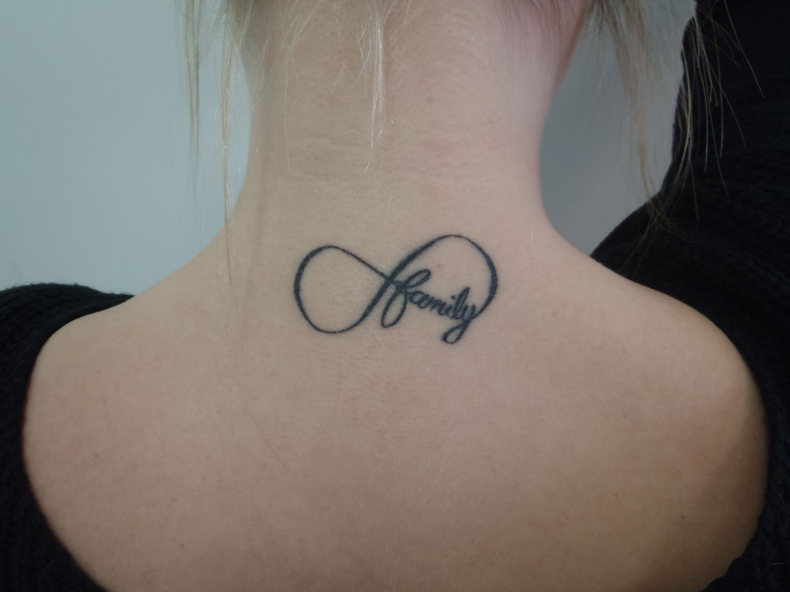 Symbolic tattoos for love gallery symbol and sign ideas 35 family infinity symbol tattoos family infinity symbol tattoo on nape buycottarizona gallery biocorpaavc Images