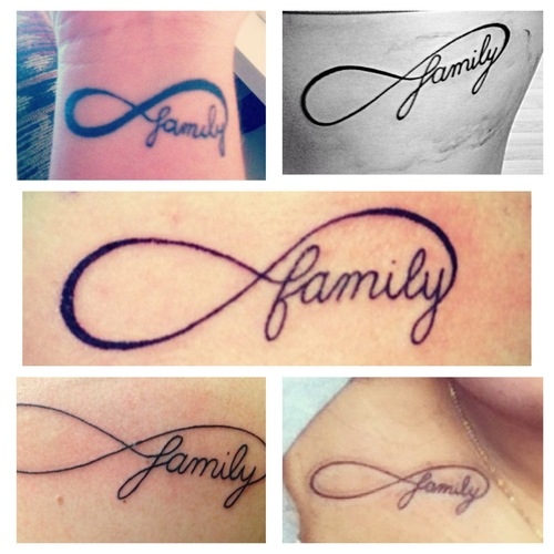 3ea11f697 35+ Family Infinity Symbol Tattoos
