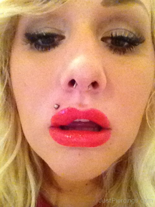 Girl With Septum And Monroe Piercing
