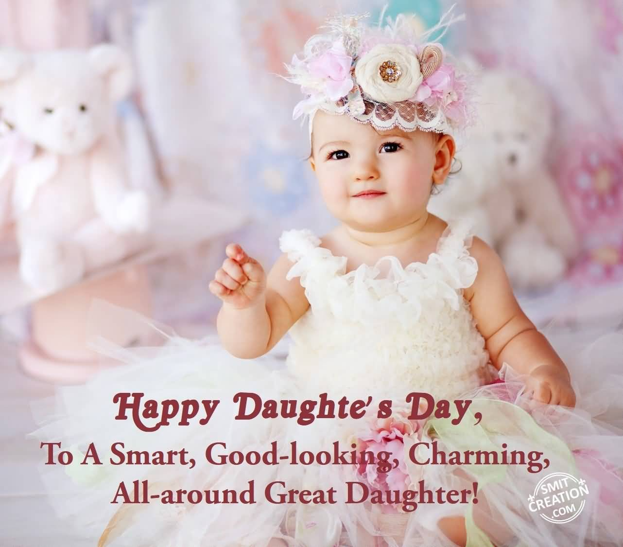 55 most beautiful daughters day wish pictures and images happy daughters day to a smart good looking charming all around great kristyandbryce Images