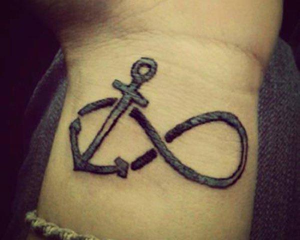 42 anchor infinity symbol tattoos