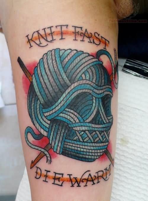 Knitting Tattoo Sleeve : Best knitting tattoos