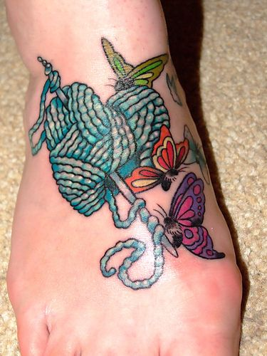 Knitting Tattoo Images : Best knitting tattoos
